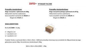 DPD - wymiary paczek